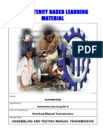 Assembling and Testing Manual Transmission
