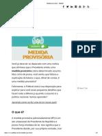 Medida provisória - Politize!
