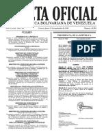 Gaceta Oficial Número 40.989 de la República de Venezuela, 15 de septiembre de 2016