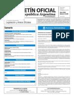 Boletín Oficial de la República Argentina, Número 33.465. 20 de septiembre de 2016