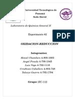 Informe Quimica 2 REDOX Parte 1 Cuerpo