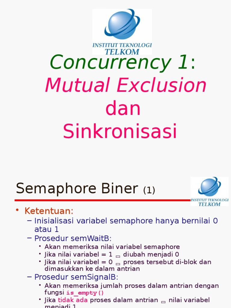 Semaphore & Monitor Sebagai Bagian Dari Mutual Exclusion