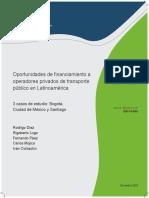 Oportunidades de Financiamiento a Operadores Privados de Transporte Publico 3 Casos de Estudio en Latinoamerica Bogota Ciudad de Mexico y Santiago