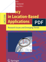 Privacy in Location-based Applications