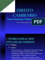 Slides Direito Cambiário - Teoria Geral Dos Títulos de Crédito