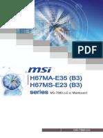 H67MA-E35 Motherboard Manual
