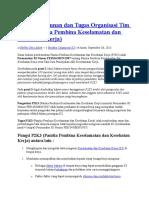 Struktur Organisasi P2K3