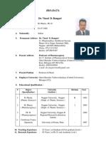 9.12.15-Dr. Vinod Rangari Biodata