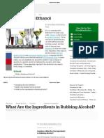 Alcohol Versus Ethanol