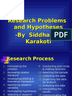 Research Problem & Hypotheses
