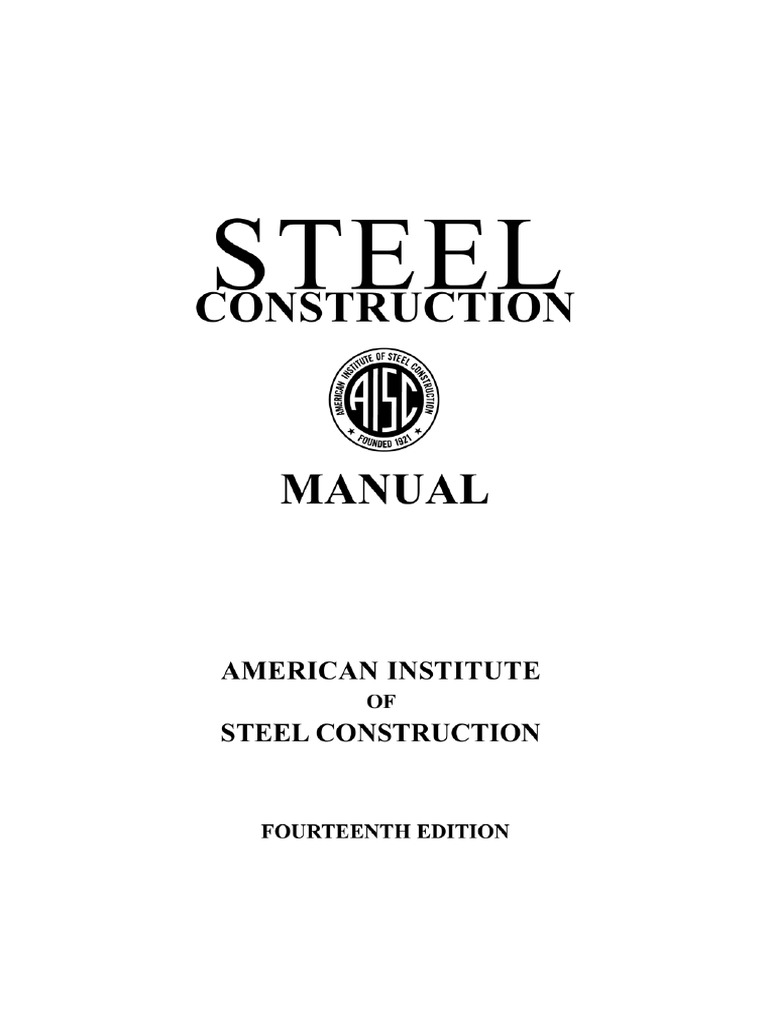 Steel Construction Manual 14th Edition Pdf Download
