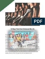 10 Ways That Choir Enhanced My Life