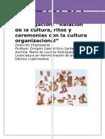 Relación de La Cultura, Ritos y Ceremonias Con La Cultura Organizacional