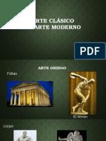 Arte Clásico vs Arte Moderno