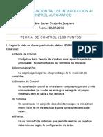 Tercera Prueba Solemne - Introducción Al Control Automático