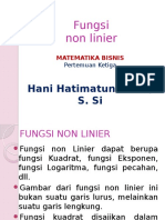 Fungsi Non Linier