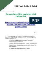 UOP COM 295 Final Guide.doc