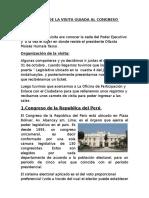 Informe de La Visita Guiada Al Congreso de La República