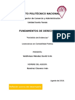 Portafolio de Evidencias, Fundamentos de Derecho - Valdivieso Mendez