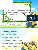 Common Nouns