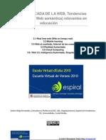 Tendencias Web 3.0 (más allá de la web semántica y mirando a la educación)