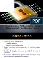 Graphical User Authentication Using Steganography and Random Codes