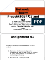 Presentation-Network Theory Assignment 1&2