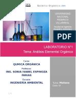 Laboratorio N°1  Análisis Elemental Orgánico