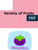 Variety of Fruits