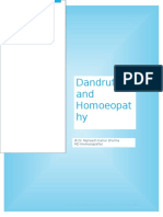 Dandruff and Homoeopathy