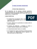 ESTRUCTURAS SISTEMAS OPERATIVOS