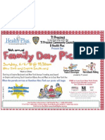 Family Day Picnic Flyer