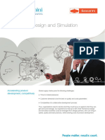 One Pager by Capgemini Mechanical Design and Simulation Services