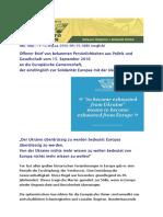 2016-09-15 Appell zur Solidaritaet mit der Ukraine