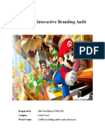 Nintendo Interactive Branding Audit