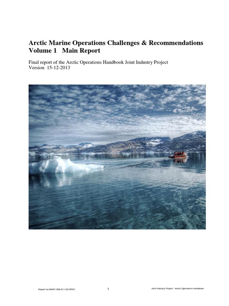 Arctic Marine Operations Report.pdf | Sea Ice | Environmental Impact ...