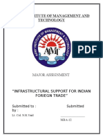 Infrastructural Support for Indian Foriegn Trade