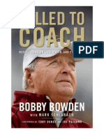 Called to Coach by Bobby Bowden, an excerpt