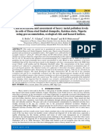 Characterization and assessment of heavy metal pollution levels in soils of Dana steel limited dumpsite, Katsina state, Nigeria using geo-accumulation, ecological risk and hazard indices.