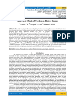 Analytical Effects of Torsion on Timber Beams