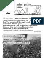 Gemeindebrief Sommer 2010