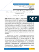 Assessment of the Reliability ofFractionator Column of the Kaduna Refinery using Failure Modes Effects and Criticality Analysis (FMECA)
