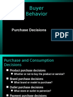 Purchase and Consumption Decisions