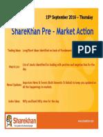 Errata Sharekhan Pre Market 15th September 2016 Thursday
