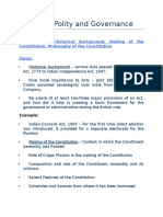Focus Areas - Indian Polity and Governance