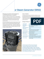 Solar Receiver Steam Generator (SRSG) - GE Renewable Energy