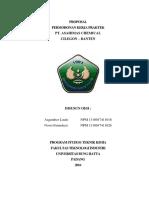 Proposal Permohonan Kerja Praktek pt asahimas chemical