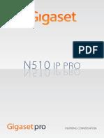 Gigaset N510 IP PRO User Manual