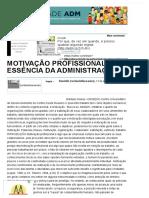 Motivação Profissional_ a Essência Da Administração - Artigos - Marketing - Administradores