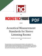 Acoustic Measurement Standards